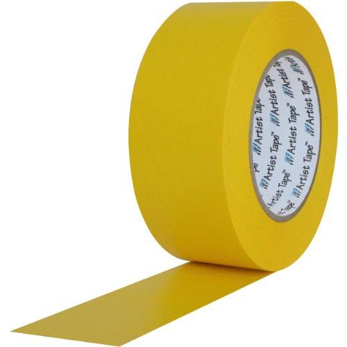 ProTapes 840178007353 Artist-Risma di carta, retro piatto/Console-Nastro lunghezza x larghezza 60 yd. 10,16 (4 cm, colore: giallo (Confezione da 48) - Console Nastro