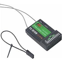 yuntu Flysky FS-iA10B Receptor 10CH Salida PPM Rc receiver Compatibile Con FS-I6 FS-I6S FS-I6X FS-I10 GT3C Transmisor para FPV Racing RC Drone