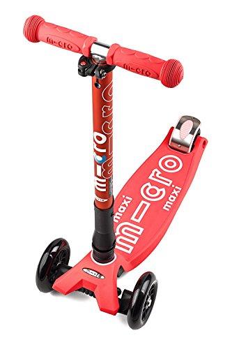Micro Kinderroller Maxi Deluxe Kickboard Coral Faltbar