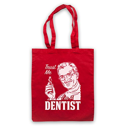 Trust Me I'm A Dentist Funny Work Slogan Umhangetaschen Rot