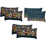 "Amrange Designer Printed 6 Piece Cotton Pillow Cover Set - 17"" x 27"", Multicolour"