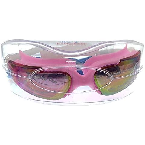 Siamesas gorros para natación gafas anti-vaho y UV placas NPC llantas y gafas , black