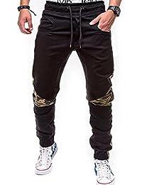 MOIKA Herren Hose Slim Fit Jogging Pants, Mode Herren Chino Cargo Hose Tight Beam Fuß Kordelzug Sport Slacks Casual Elastische Taschen Hosen