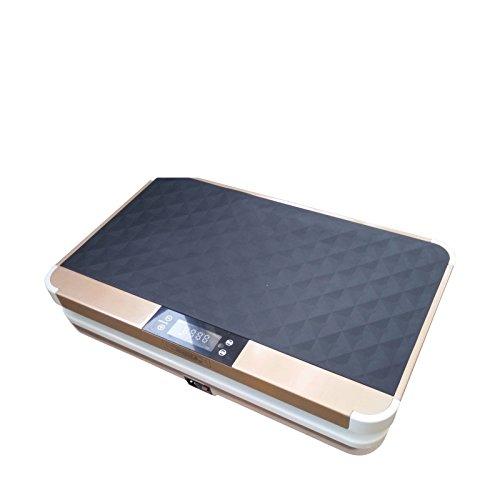 VibroSlim Unisex- Erwachsene VSU010 Vibrationsplatte, Gold, L 61.5cm x B 37.5cm x H 14.2cm