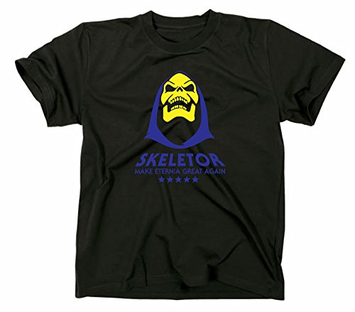 Make Eternia Great Again Skeletor Fun T Shirt Funshirt, MOTU, XL, schwarz (Skeletor T-shirt)