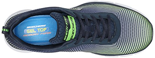 Skechers Equalizer Game Day, Baskets Basses Homme Bleu - Bleu (Nvlm)