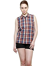 Women Check Shirt by I Am For You