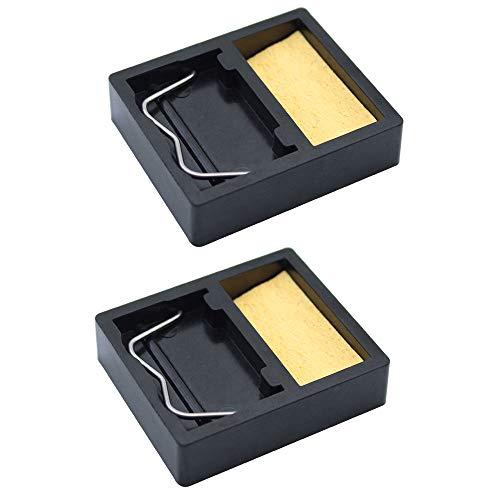 ni Tragbarer Lötkolben Ständer Halter Rechteckiger Kleiner Schweißbrenner Ständer mit Lötschwamm zur Reinigung und Unterstützung der Lötspitze ()