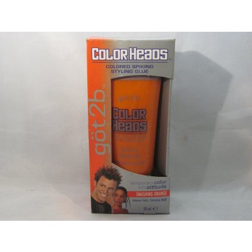 Got 2b Color Heads - Colored Spiking Styling Glue - Smashing Orange - Temporary Hair Color - Styling Spiking Glue