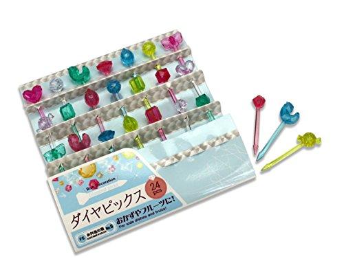 S??er japanischer Food Picks f?r Kinder Bento Box Lunch???24?x crystal Jewels