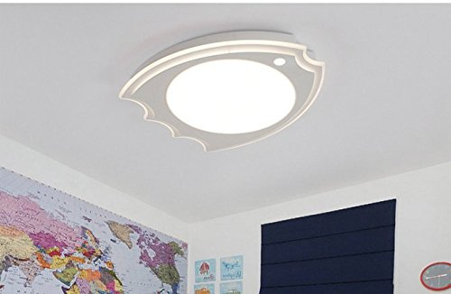 CLG-FLY moderno minimalista camera da letto camera dei bambini lampada da soffitto personalità led Derby Cartoon carino stanza dei bambini illuminazione,Guang Bai,52cm-30W