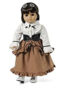 Camden Steampunk Complete Outfit Fits American Girl? Dolls - Skirt, Blouse, Corset, Goggles and Victorian Shoes by Carpatina LLC