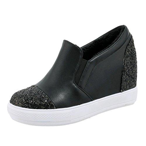 Mee Shoes Damen hidden heel Geschlossen Pailleten Pumps Schwarz