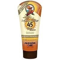 australian gold spf 45 premium coverage lotion viso + bronzer