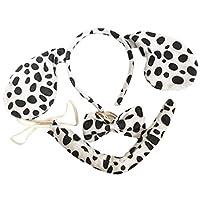 Cherry-on-Top Dalmation Animal Set,Instant Animal Dress Up Set Fancy Dress Animal Set Ears Tail Dress Up Instant Kit Animal Costume Accessory
