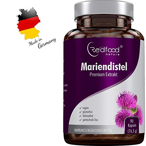 MARIENDISTEL PREMIUM EXTRAKT · 500 mg Mariendistel Extrakt mit 80{a5b9a319fc9f049b25a43dd7b2bb126d93709d12a7be665f9e7812be048620a4} Silymarin Anteil · hoch konzentriert · 90 vegane Kapseln Made in Germay · OHNE Magnesiumstearat und 100{a5b9a319fc9f049b25a43dd7b2bb126d93709d12a7be665f9e7812be048620a4} vegan