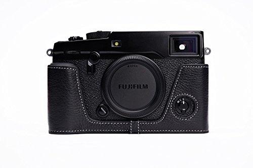 TP-handgemachte echte Echtes Leder Halb Camera Case Kameratasche für FUJI X-Pro2 Schwarz Farbe