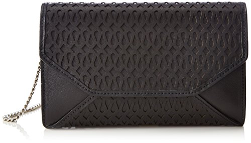 kaviar gauche Envelope Clutch loopnet, Sacs bandoulière Noir - Schwarz (black/silver)