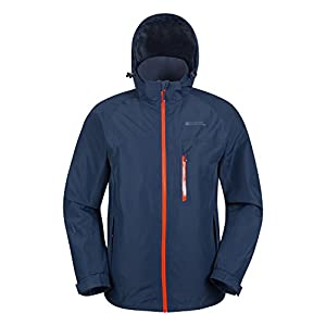 41KH49WLopL. SS300  - Mountain Warehouse Brisk Extreme Mens Waterproof Jacket - Adjustable Cuffs & Hood, Taped Seams R