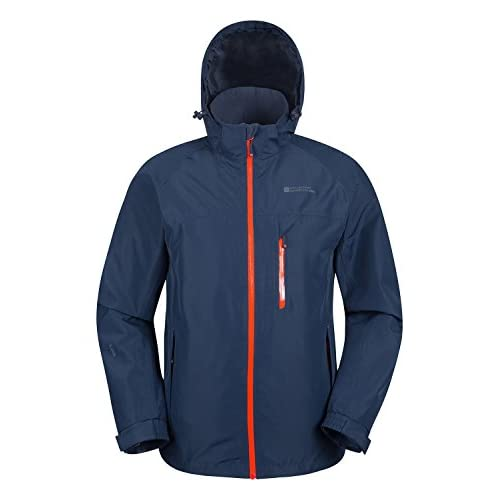 41KH49WLopL. SS500  - Mountain Warehouse Brisk Extreme Mens Waterproof Jacket - Adjustable Cuffs & Hood, Taped Seams Rain Coat, Breathable Winter Jacket - for Autmn, Camping in Cold Weather