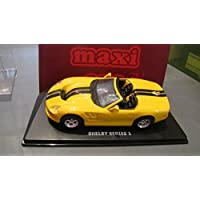 Maxi car 1/43 Scale - 20081 Shelby series 1 yellow black stripes
