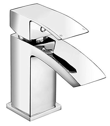 WATERFALL CHROME BATHROOM CLOAKROOM MINI SMALL BASIN MONO MIXER TAP