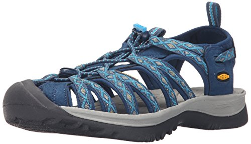 huge discount a8e79 e538d Keen Women's Whisper Hiking Sandals, Blue (Poseidon/Blue Danube), 4.5 UK 37  1/2 EU