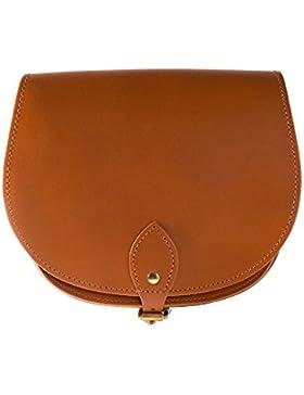 Tan Classic aus 100% Leder-Umhängetasche, Satteltasche, Handtasche, zur Zeit zum Sonderpreis erhältlich, in vielen...