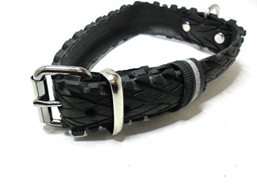 Handmade Hundehalsband aus Fahrradreifen (upcycling). Halsumfang von 42cm - 50cm. Robust ! - 2