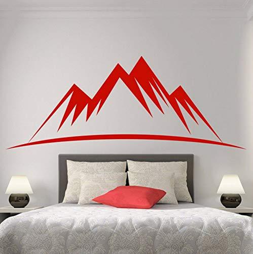 Pbldb 56X23 Cm Rot Huge Mountain Silhouette Muster Für Ihr Schlafzimmer Wohnzimmer Vinyl Aufkleber Fenster Tür Sweep Wandtattoos (Halloween Fenster Silhouetten Muster)