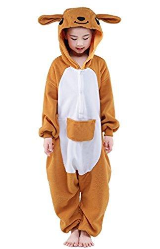 ABYED® Jumpsuit Tier Karton Fasching Halloween Kostüm Sleepsuit Cosplay Fleece-Overall Pyjama Schlafanzug Erwachsene Unisex Lounge,Chidren Größe 125 -for Höhe: 138-148cm Känguru (007 Kostüme Für Frauen)