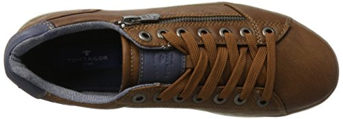 Tom Tailor 2782103, Sneaker Uomo marrone (Cognac)