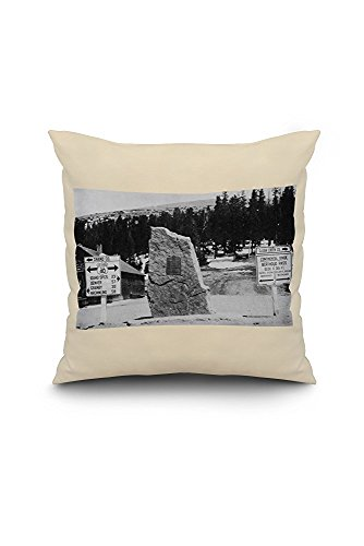 Colorado - Continental Divide Marker at Berthoud Pass Photograph (18x18 Spun Polyester Pillow Case, White Border)