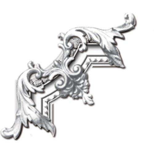 ekena Millwork mld04X 01du Dublin Blätter Stuhl Schiene, weiß, PML11X11CH - Blatt Stuckleisten