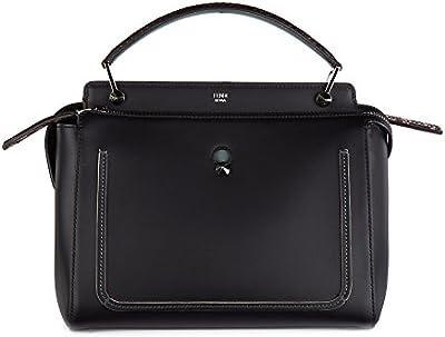 Fendi bolso de mano para compras en piel mujer nuevo dotcom negro