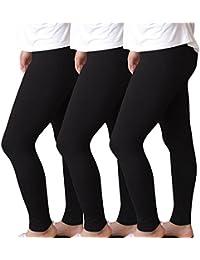 Shujin Femme Lot de 3 Pantalon Mince Eté Grande Taille Couleur Unie Pants  Stretch Modal Décontractés Yoga Leggings Courtes… 1710d7976fc