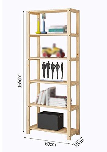 DFHHG® Estantería Estantería de madera maciza Estantería de almacenamiento Múltiples capas Dormitorio Cocina durable ( Tamaño : 60*30*165cm )