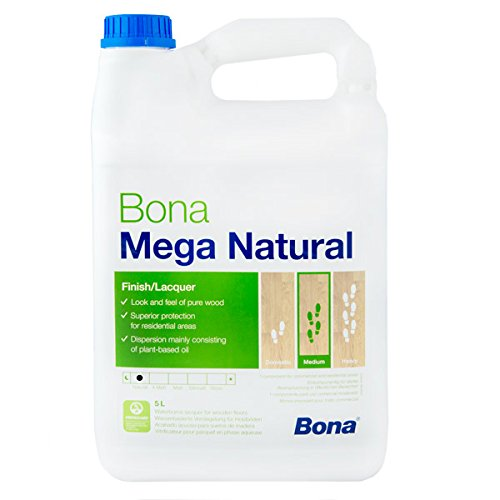 Bona Mega Natural 1 component Waterborne Lacquer for Wooden Floors by Mega (Bona Wood Floor)