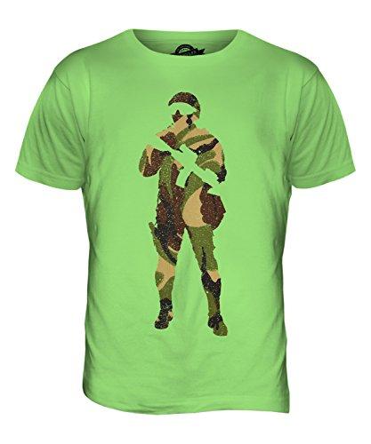 CandyMix Soldat Tarnkleidung Flecktarn Herren T Shirt Limettengrün