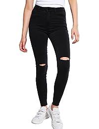 32bc6dcf4ec5 Even Odd Skinny Jeans Damen in Schwarz – Röhrenjeans im Destroyed Look –  Enge Stretch Röhre mit Rissen – Sexy Hose mit High…