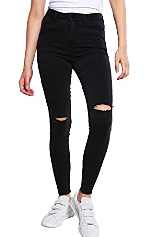 Even&Odd Skinny Jeans Damen in Schwarz – Röhrenjeans im Destroyed