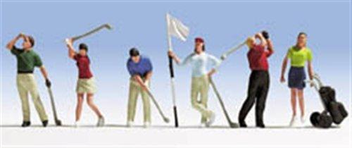 NOCH 15885 Golfer Golfspieler mit Zubehör 6 Figuren H0 Neu