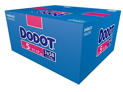 Dodot, Talla 5 (11-17 kg), 174 pañales