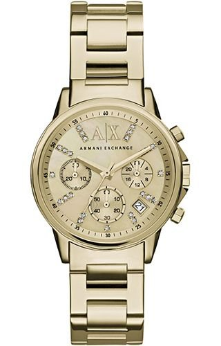 Montre Armani Exchange AX4327 yellow gold ACIER 316 L Femme
