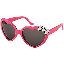 Alsino Schlager Sonnenbrille Lolita 80er Jahre Retro Herzbrille mit Schleife F-037, Farbe wählen:F-037 Herz pink weiß