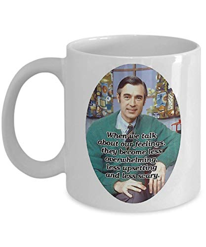 Mr Rogers Fred Rogers Portrait1 Coffee Mug, Funny, Cup, Tea, Gift for Christmas, Father's Day, Xmas, Dad, Anniversary, Mother's Day, Papa, Heart, Sant Rogers Cup
