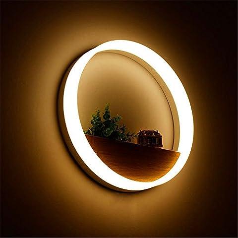 QWER Lampe Murale de salon moderne led lampe murale décorative minimaliste étude anneau rond lampe de chevet chambre à coucher