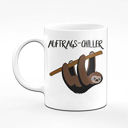 Faultier Tasse Auftrags Chiller - Kaffeetasse - Lustige Tasse - 2