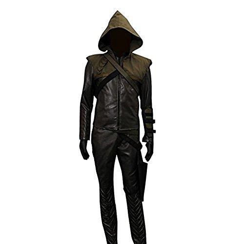 Cosdaddy /Oliver Queen Green Arrow Hoodie Cosplay Kostüm (Kostüm Cosplay Green Arrow)