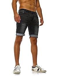 SUBLEVEL Herren Sweat Bermuda mit Aufschlag   Kurze Hose   Bequeme Sweat Jeans-Shorts